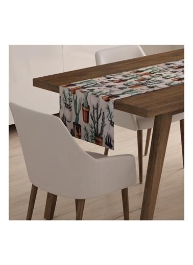 Lyn Home & Decor Saksı Kaktüs Runner 40X140 Renkli